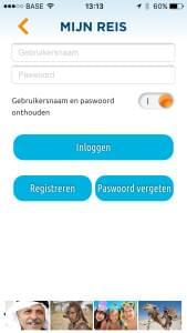 Omnia Travel App - Inloggen