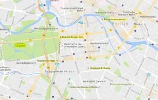 Schoolreis Berlijn - Kaart