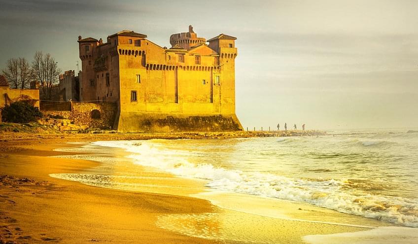 Schoolreis Italie - Etrusken - Pyrgi kasteel - Santa Marinella