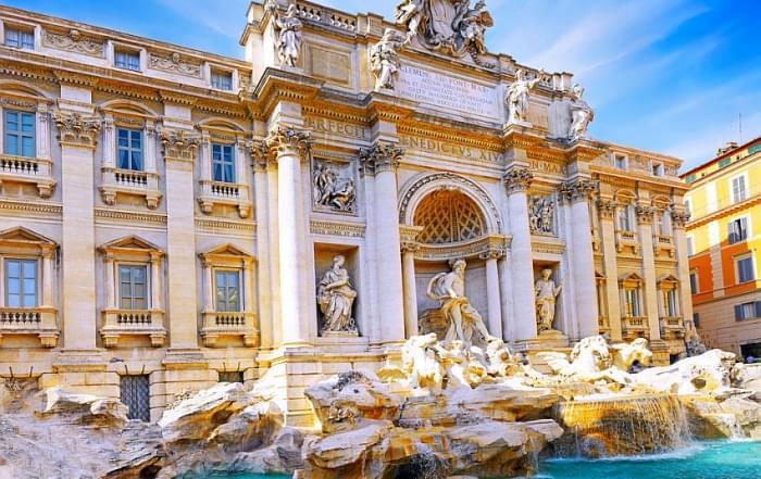 Schoolreis Rome - Trevi fontein