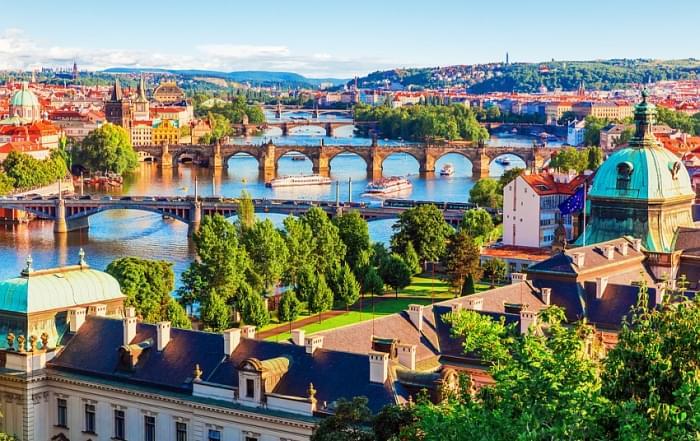 Schoolreis Tsjechie - De Vitava rivier in Praag