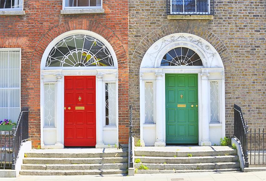 Schoolreis naar Dublin - typische deuren