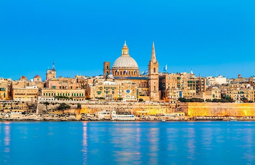Schoolreis naar Malta - Skyline Valletta