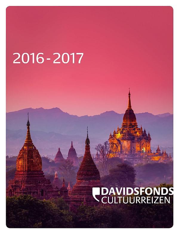 Cover Brochure Davidsfonds Cultuurreizen 2016-2017