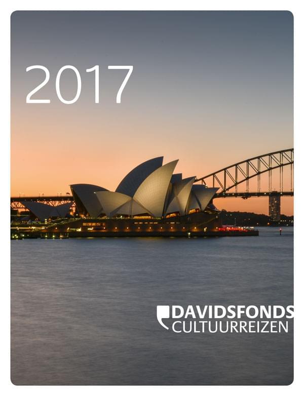 Cover Brochure Davidsfonds Cultuurreizen 2017