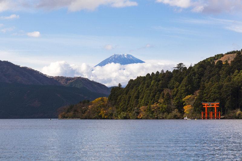 Rondreis Japan – Land van de torii en onsen - Zicht op Mount Fuji in Hakone