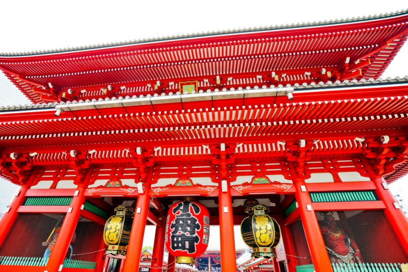 Rondreis Japan – Land van de torii en onsen - Zicht op de Senso-ji temple in Tokyo