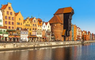 Rondreis Polen - Middeleeuwse kraan aan de Martwa Wisla rivier in Gdańsk