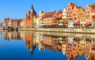 Rondreis Polen - Typische gekleurde huisjes in het oude centrum van Gdansk
