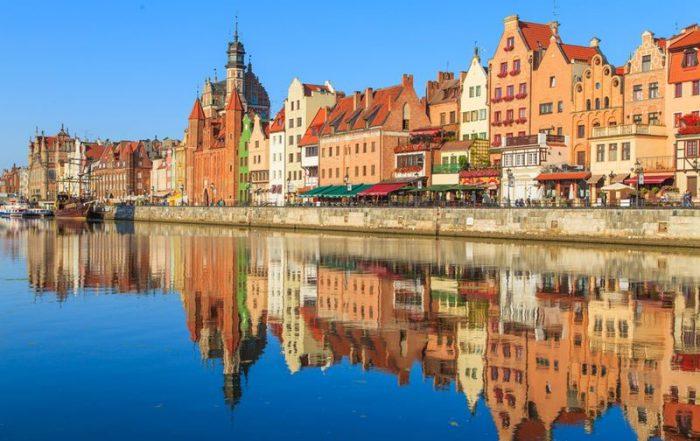 11-daagse rondreis Polen - Typische gekleurde huisjes in het oude centrum van Gdansk