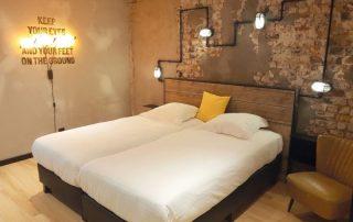 Hip en trendy overnachten in Oostende - hotelkamer