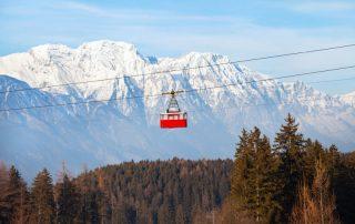Shortski in het Oostenrijkse Igls - skilift aan Patscherkofel