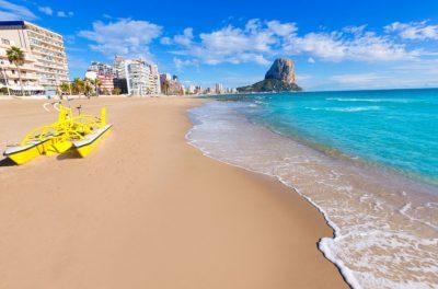 Fietsvakantie in Calpe aan de Costa Blanca - Arenal strand