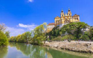 Riviercruise op de Donau, van München tot aan de Zwarte Zee - Abdij van Melk - Oostenrijk