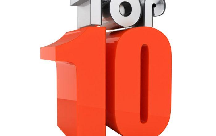 De voorlopige top 10 voor 2019