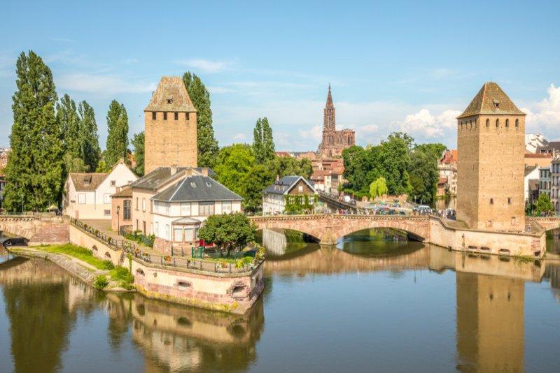 Straatsburg en Basel reis naar de Elzas - Ponts Couverts Straatsburg