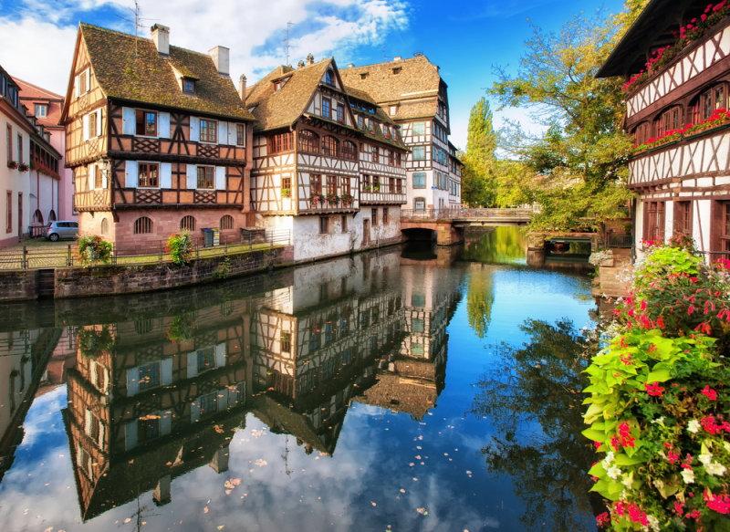 Straatsburg en Basel reis naar de Elzas - Traditionele huizen in La Petite France - Strassbourg