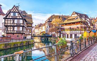 Straatsburg en Basel reis naar de Elzas - Traditionele huizen in Straatsburg - UNESCO Wereld Erfgoed