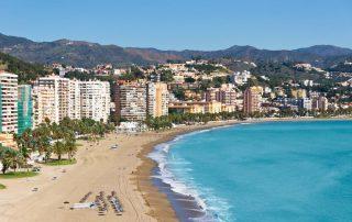 Rondreis Andalusië - strand van Malaga