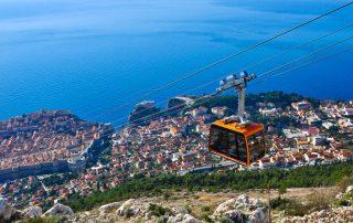 Rondreis Kroatië - kabelbaan in Dubrovnik
