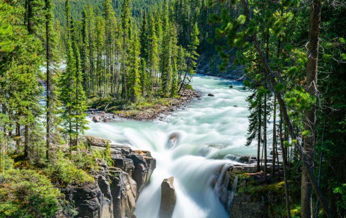 Rondreis West-Canada langs 6 nationale parken - Sunwapta watervallen - Jasper National Park