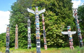 Rondreis West-Canada langs 6 nationale parken - Totems in Stanley Park - Vancouver