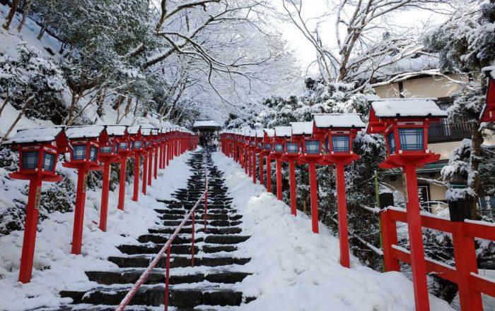 Ontdek Japan in de winter - Heiligdom van Kifune-jinja
