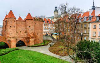 Rondreis Polen - Barbicanfort in het historische centrum van Warschau