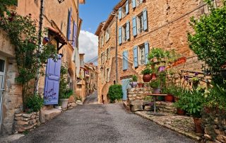 Geuren van de Provence - Mane - oude pitoreske straat in het oude centrum