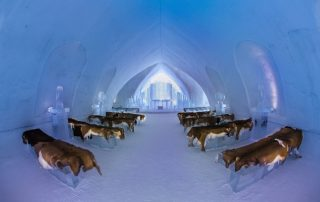 Overnachten in een magisch ijshotel in Canada - kapel