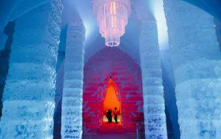 Overnachten in een magisch ijshotel in Canada - inkom