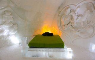 Overnachten in een magisch ijshotel in Canada - kamer