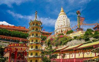 Rondreis Maleisië - Kek Lok Si tempel op Penang eiland - Maleisië