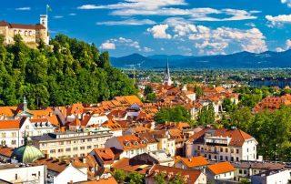Rondreis Slovenië - Ljubljana panoramazicht
