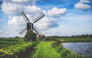 Uitwaaien aan de Nederlandse Kust - windmolen
