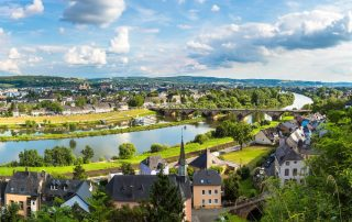 Verken het charmante Trier - panorama van Trier