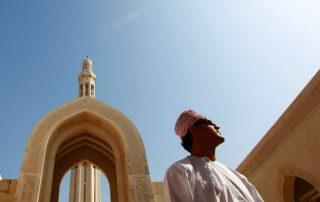 Oman, onwaarschijnlijk oppermachtig - moskee sultan Qaboos - Muscat