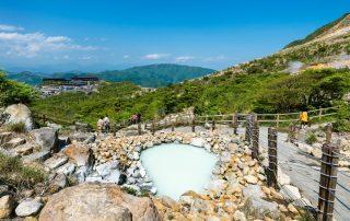 Rondreis Japan – Land van de torii en onsen - Owakudani warmwaterbronnen naast Lake Ashi in Hakone