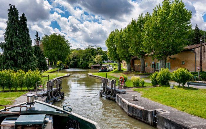 Vertrek op vaarvakantie - Canal du Midi - sluis