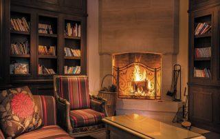 Charmant logeren aan de Normandische kust - Best Western Plus Hostellerie du Vallon - bibliotheek