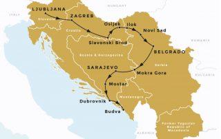 Het voormalige Joegoslavië - Route rondreis
