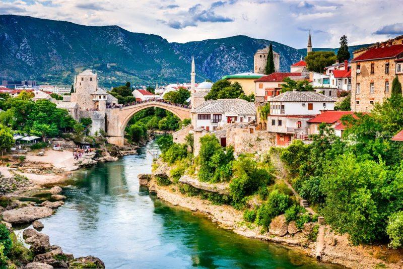 Rondreis door het voormalige Joegoslavië - Mostar - Stari Most (Oude brug) - Bosnië en Herzegovina