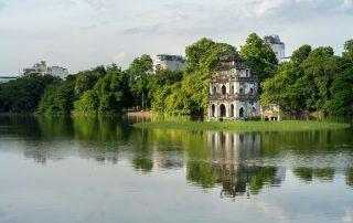 Rondreis Vietnam - Hoan Kiem Meer - Hanoi