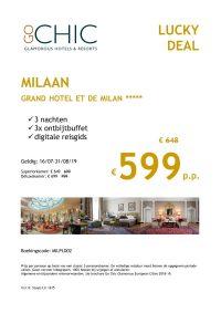 Last Minutes en Promoties - Go Chic - Milaan - Grand Hotel et de Milan