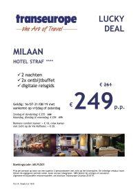 Last Minutes en Promoties - Transeurope - Milaan - Hotel Straf