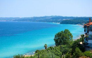 Rondreis Halkidiki – Langs mooie ongerepte Griekse kusten - pano van de baai - Afytos - Kassandra