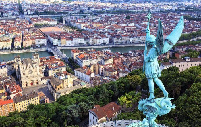3-daagse Lyon - De hoofdstad van de gastronomie - Zicht vanaf Notre Dame