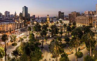 Rondreis Argentinië en Patagonië met Chileense afsluiter - Plaza de Armas in Santiago - Chile