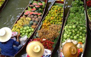 Rondreis Thailand - drijvende markt - Damnoen Saduak