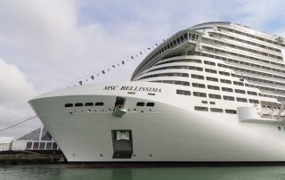 Wintercruise naar de Emiraten met MSC - MSC Bellissima - boeg
